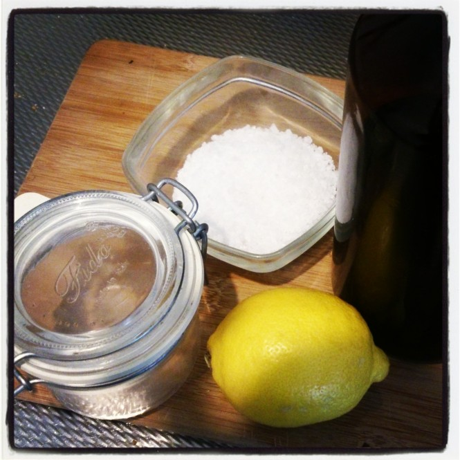 DIY citroen Body Scrub